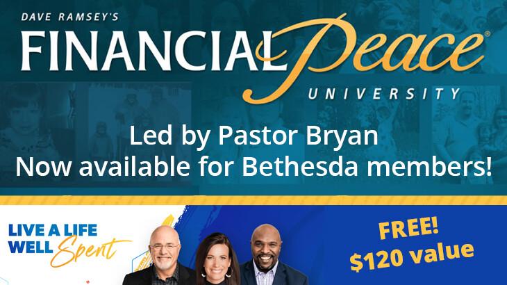 Financial Peace University - Pastor Bryan